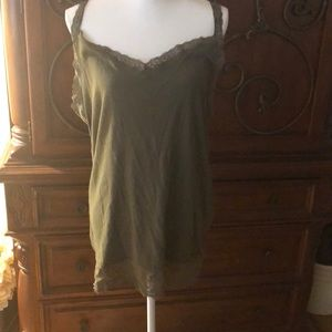 Torrid Olive Green and lace camisole